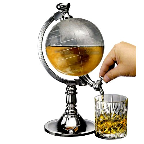 Homecube Globe Shaped Beverage Dispenser Drink Beer Machine Beer Pump Single Canister (Drink Dispenser Liquor compare prices)