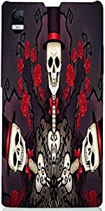 Snoogg Skeletons In Tophats And Roses 2695 Case Cover For Sony Xperia Z1 L39H