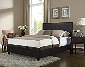 Dark Chocolate Queen Wood Storage Platform Bed 3 Piece Bedroom Set