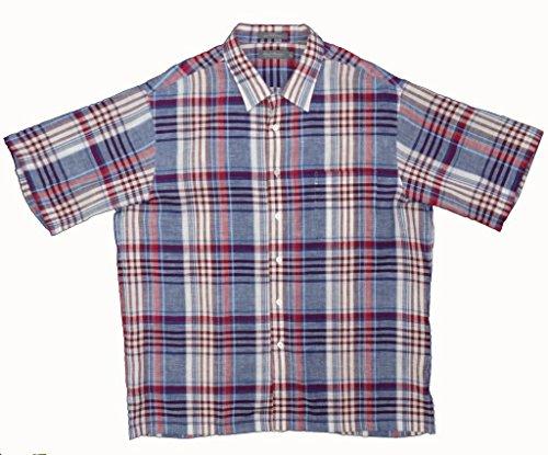 Daniel Cremieux Signature Collection Short Sleeve Linen Shirt (Blue Violet, Large)