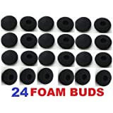 SoftRound 24 Pack Foam Earbud Earpad Ear Bud Pad Replacement Sponge Covers for Ipod Iphone Itouch Ipad Headsets T-017-24P