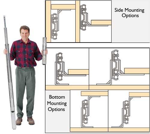 Accuride Drawer Slides 16 Bottom Mount Brackets For