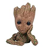 Baby Groot Flowerpot, first edition pen holder or flower pot for home or office, perfect gift for any occasion (Color: Original Version, Tamaño: Basic pack)