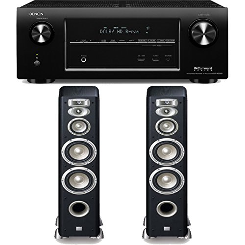 Denon Avr-X3000 7.2-Channel 4K Networking Home Theater Receiver Plus A Pair Of Jbl Studio L880 4-Way Floorstanding Speakers