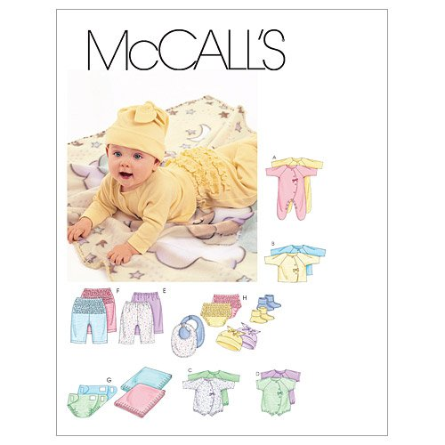 Best Review Of McCall's Patterns M6223 Infants' Coveralls, Top, Bodysuit, Pants, Diaper Cover, Blank...