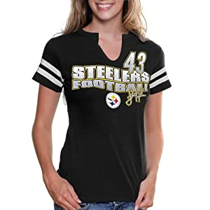 NFL Troy Polamalu Pittsburgh Steelers Women's My Crush IV T-Shirt - Black from SteelerMania