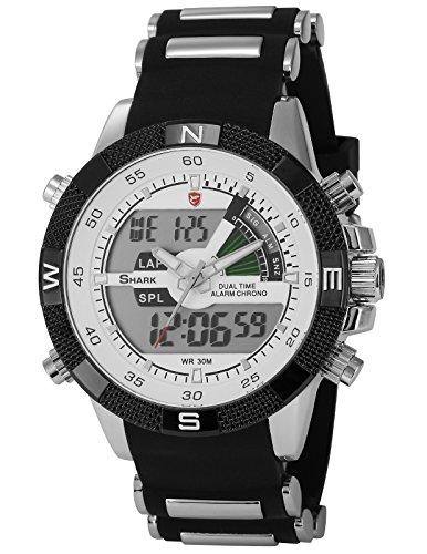 shark-montre-led-homme-quartz-sportive-bracelet-acier-inoxydable-etanche-neuf-sh041
