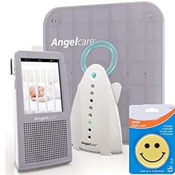 AngelCare AC-1100 New Model Video Movement Sound Baby Monitor with Night Light and Cord Kit