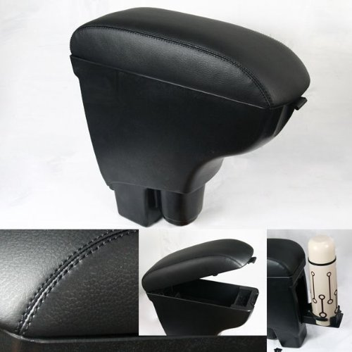 Brand New Leather Center Console Armrest For 2002-2008 Fit / Jazz Carbon Black
