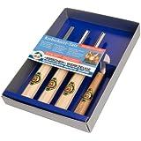 Kirschen 3424 Kerbschnitzgarnitur, 4-teilig, Inhalt: 3 Stück Kerbschnitzbeitel mit 1 Stück Kerbschnitzmesser
