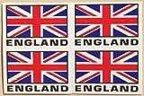 国旗ステッカー イギリス国旗 英国ユニオンジャック 4分割 防水紙シール スーツケース・PCドレスアップに