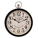 Windsor 30 cm Wall Clock Pocket Watch Style Brighouse, Black