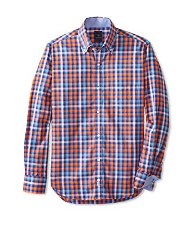 TailorByrd Men's Plaid Long Sleeve Shirt