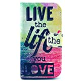 Casea Packing Live The Life You Love PU Leather Wallet Case for Samsung Galaxy Ace 4