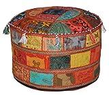 Traditionelle Dekorative osmanischen Komfortable Bodenkissen Hocker mit Verzierung mit Stickerei