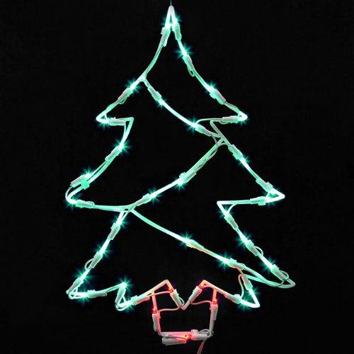 "18"" Lighted Led Christmas Tree Window Silhouette Decoration"