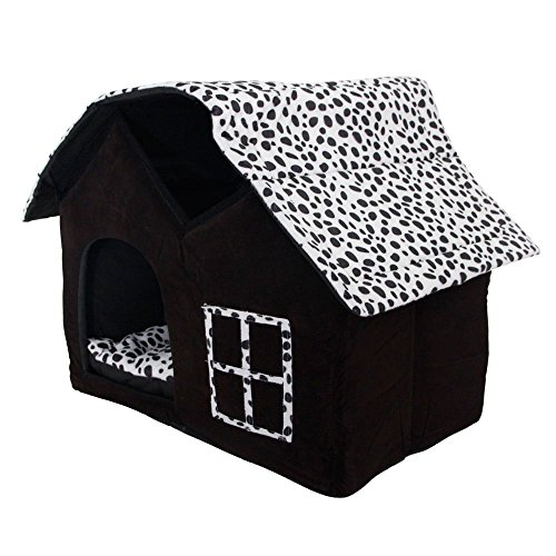 SKL-Luxury-High-end-Double-Pet-Houseblack-Dog-Room-Cat-Bed-55-X-40-X-42-Cm