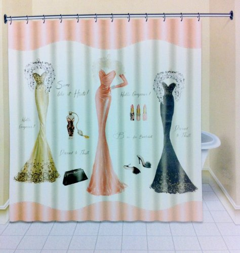 Avanti Dressed To Thrill Shower Curtain With Dresses