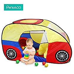 Pericross Portable Kids Adventure Car Trunk Pop up Play Tent Cute Toy House Child Fun Hut Indoor Outdoor Game House Zipper Closure