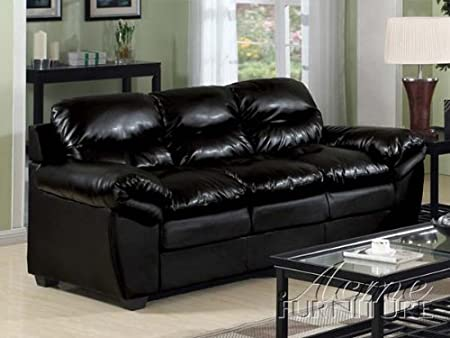 ACME 15155 Standford Sofa with Black Bonded Leather Match