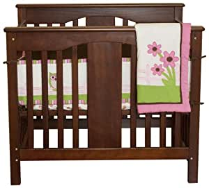 Pam Grace Creations Portable Crib Bedding Set, Owl Buddies