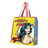 Vandor 75273 Wonder Woman Large Recycled Shopper Tote, Multicolored