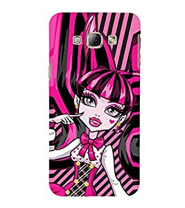 EPICCASE pinky girl Mobile Back Case Cover For Samsung Galaxy A7 (Designer Case)