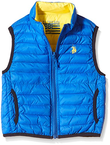 U.S. Polo Assn. - Giubbotto senza maniche USPA Jkt, Unisex Bambino, Reversible Royal/Yellow (571), 6