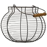 "10"" Oval Wire Basket with Wooden Handles - Vintage Style - By Trademark Innovations"