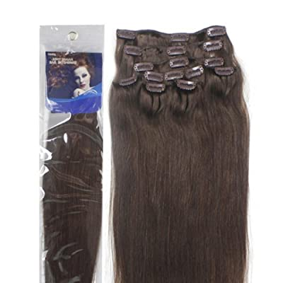 """Best Cheap Deal for 18"""" Clip in Human Hair Extensions, 10pcs, 100g, Color #4 (Medium Brown) by Alexxis from Alexxis - Free 2 Day Shipping Available"""