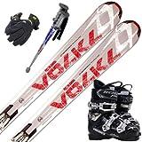 スキー5点セット 2013 Volkl(フォルクル) RTM73 金具・ストック・グローブ・TECNICAブーツ付き