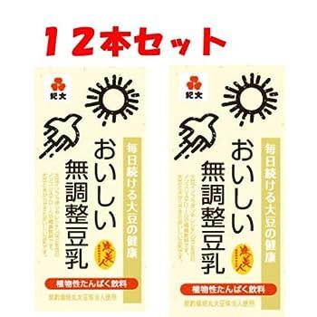 紀文 おいしい無調整豆乳 1000ml 12本セット(6本×2) 常温保存可能