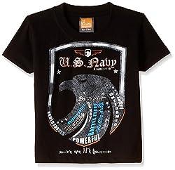 Little Kangaroos Baby Boys' T-Shirt (11050_Black_1 year)