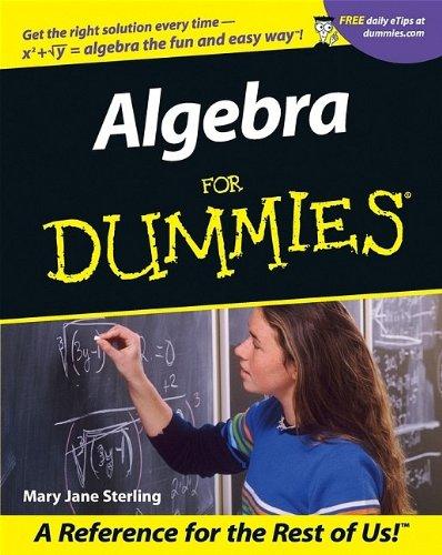 Algebra For Dummies