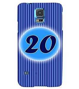 Fuson 3D Printed Numerology Designer back case cover for Samsung Galaxy S5 - D4240