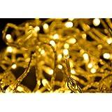 Led Lichterkette gelb weißes Licht 100 Led 10m