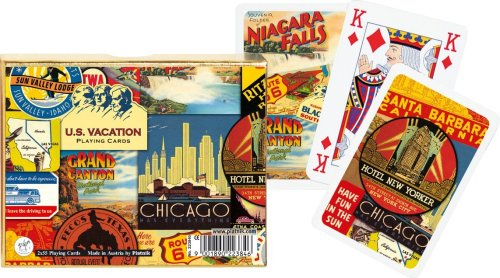 PIATNIK U.S. VACATION BRIDGE PLAYING CARDS