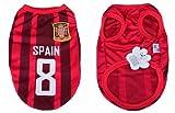 【 全3サイズ 】( 2014 ブラジル ワールドカップ ) 犬用 ユニフォーム ベスト メッシュ 生地 スペイン (L)