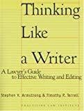 Thinking Like A Writer: A Lawyer