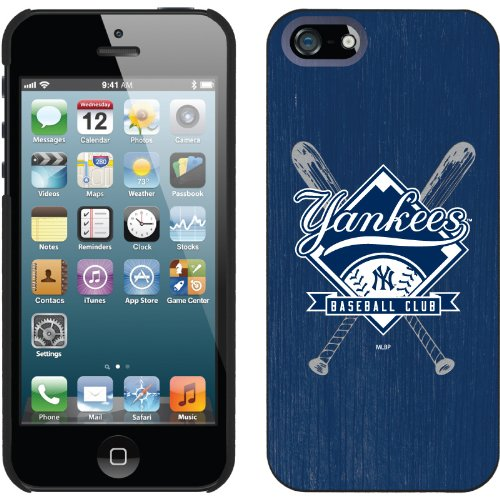 Special Sale New York Yankees - Bats design on a Black iPhone 5 Thinshield Snap-On Case by Coveroo