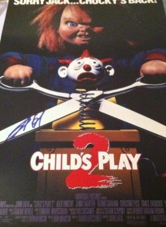 Childs Play 2 11'x17' Movie Poster Signed Brad Dourif