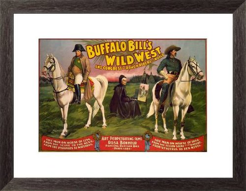 Buffalo Bill's Wild West, Horse & Painter by Courier Litho. Co. - 23-in x 17-in Giclée Art Print at Amazon.com
