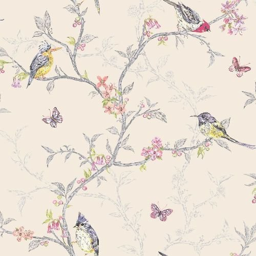 beige-98082-phoebe-birds-trees-blossom-butterflies-statement-holden-decor-wallpaper