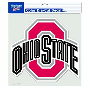 Buy NCAA Ohio State Buckeyes 8-by-8 Inch Diecut Colored Decal by WinCraft