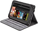 AmazonBasics Leather Folio Cover with Multi-Angle Adjustable Stand for Kindle Fire, Samsung Galaxy Tab 7.0 (Black)