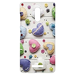 Fancy Interio - Heart Shaped Hand Made Craft Work Design Pattern Printed Hard Back Case Cover For Gionee S6s