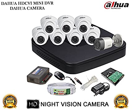 Dahua-DH-HCVR4108C-S2-8CH-Dvr,-6(DH-HAC-HDW1000RP)-Dome,-1(DH-HAC-HFW1000RP)-Bullet-Camera-(With-Accessories,-2TB-HDD)
