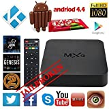 JUNING(TM) Android 4.4 TV Box Kodi XBMC Fully Loaded 1080P Amlogic S805 Quad Core Smart Media Player RAM 1GB ROM 8GB Root 4k H.265