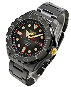 Seiko 5 SRP643 Automatic Black Dial Black Ion Plated Band Mens Limited Edition Watch
