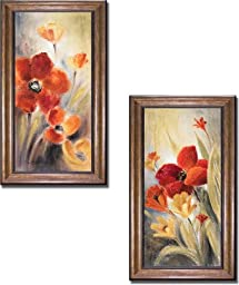 Secret Garden I & II by Lanie Loreth 2-pc Premium Bronze Framed Canvas Set (Ready to Hang)